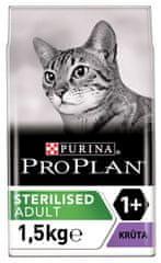 Purina Pro Plan hrana za sterilizirane mačke, puran, 1,5 kg