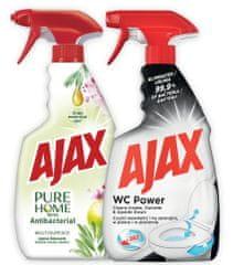 AJAX Sprej Pure 500ml + WC Power 500ml