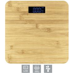 Omega OBSBB osebna tehtnica, bambus lesena, z LCD prikazovalnikom, do 180 kg