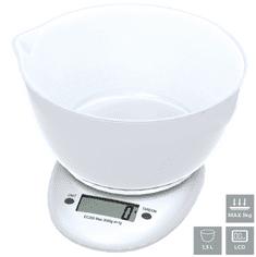 Omega OBSKWB kuhinjska tehtnica, s posodo 1,5 L, z LCD prikazovalnikom, do 3 kg