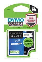 Dymo Dymo páska D1 permanentní vinylová, 12 mm x 5,5 m, černá na bílé, 1978364