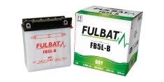 Fulbat baterie 12V, YB5L-B, 5Ah, 65A, konvenční 120x60x130 FULBAT(vč. balení elektrolytu)