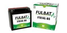 Fulbat baterie 12V, YTX14L-BS, 12,6Ah, 200A, bezúdržbová MF AGM 150x87x145 FULBAT (vč. balení elektrolytu)