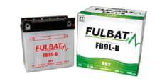 Fulbat baterie 12V, YB9L-B, 9Ah, 130A, konvenční 135x75x139 FULBAT (vč. balení elektrolytu)