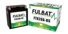 Fulbat baterie 12V, YTX20A-BS, 18Ah, 230A, bezúdržbová MF AGM 150x87x161 FULBAT (vč. balení elektrolytu)