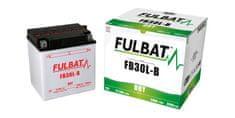 Fulbat baterie 12V, YB30L-B, 31,5Ah, 300A, konvenční 168x132x176 FULBAT (vč. balení elektrolytu)