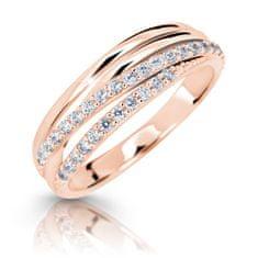 Cutie Jewellery Błyszczący pierścionek z różowego złota Z6716-3352-10-X-4 różowe złoto 585/1000