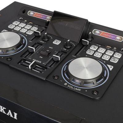 akai DJ-S5H bulihangszóró szuper hang Bluetooth usb aux in led fény mikrofon a csomagban karaoke funkció fm tuner 400w teljesítmény mixpult