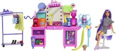 Mattel Barbie Extra Šatník s panenkou herní set