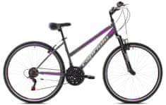Capriolo Trek Sunrise žensko kolo, L 28'/18HT, sivo-roza