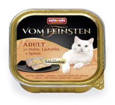 Animonda V.Feinsten CORE kurczak, filet z łososia + szpinak dla kotów 32x100 g