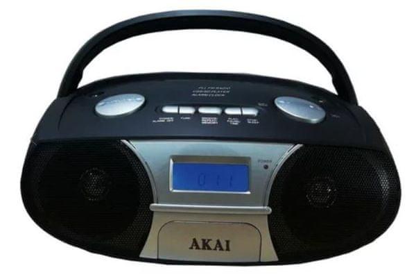 szép rádiómagnó akai aprc-106 cd Bluetooth aux in fejhallgató kimenet sd kártyák usb bemenet hangszóró fogantyú fm tuner lcd kijelző