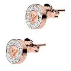 Emporio Armani Luxusní bronzové náušnice s krystaly EG3054221