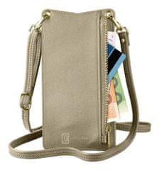 CellularLine Mini Bag nyaktáska mobiltelefonokhoz MINIBAGZ, bronzszínű