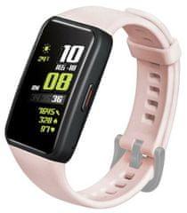 FIXED Szilikon szíj Silicone Strap Huawei Band 6 FIXSSTB-728-PI készülékhez, rózsaszín