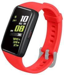 FIXED Szilikon szíj Silicone Strap Huawei Band 6 FIXSSTB-728-RD készülékhez, piros
