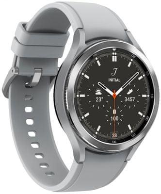 inteligentné hodinky Samsung Galaxy Watch4 Classic 46mm Black android nerez oceľ odolné vode Bluetooth nfc google pay reproduktor BIA