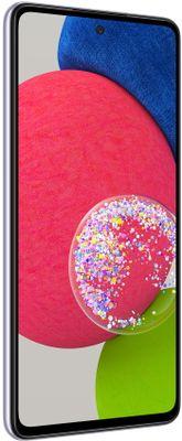 moderní mobilní dotykový telefon smartphone samsung galaxy a52s 5G čtečka otisků prstu krásný elegantní design 4500mah baterie slot pro microSD karty až 1 tb osmijádrový procesor 64mpx 12mpx 5mpx 5mpx zadní fotoaparát 32mpx přední fotoaparát gorilla glass 5 ochrana skla samoled displej nfc párování 5G intenet 5G připojení