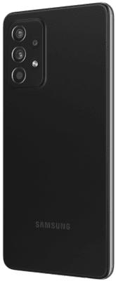 moderní mobilní dotykový telefon smartphone samsung galaxy a52s 5G čtečka otisků prstu krásný elegantní design 4500mah baterie slot pro microSD karty až 1 tb osmijádrový procesor 64mpx 12mpx 5mpx 5mpx zadní fotoaparát 32mpx přední fotoaparát gorilla glass 5 ochrana skla samoled displej nfc párování