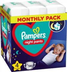 Pampers Night Pants Plenkové Kalhotky Velikost 4, 100 Kalhotek, 9kg-15kg