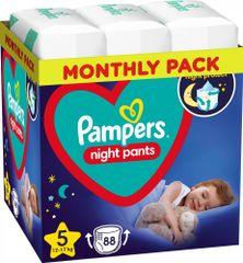 Pampers Night Pants Plenkové Kalhotky Velikost 5, 88 Kalhotek, 12kg-17kg