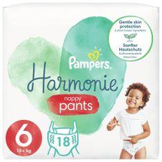 Pampers Plenkové Kalhotky Pants Harmonie Velikost 6, 18 Plenky, 15kg+