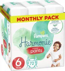 Pampers Plenkové Kalhotky Pants Harmonie Velikost 6, 72 Kalhotek, 15kg+