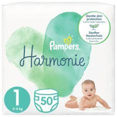 Pampers Harmonie Velikost 1, 50 Plenky, 2kg-5kg