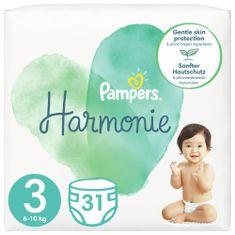 Pampers Harmonie Velikost 3, 31 Plenky, 6kg-10kg