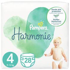 Pampers Harmonie Velikost 4, 28 Plenky, 9kg-14kg