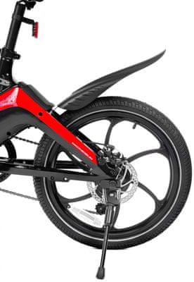 Składany rower elektryczny DUCATI MG-20 kompaktowy e-bike wyświetlacz LCD tryby jazdy wyjmowana bateria duży zasięg składana konstrukcja oświetlenie LED wyposażenie Shimano mechaniczne hamulce tarczowe błotniki bateria SAMSUNG duże koła kompaktowe rozmiary solidna konstrukcja duża pojemność baterii ekstremalnie duży zasięg dwustronne oświetlenie hamulce tarczowe składany e-bike zasięg 50 km
