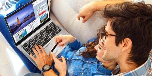Notebook Acer Aspire 3 Wi-Fi ac silný signál rychlé bezdrátové připojení