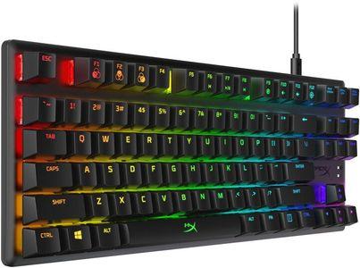 Herní drátová klávesnice HyperX Alloy Origins Core, HyperX Aqua, US (HX-KB7AQX-US) americký layout mechanické spínače podsvícené klávesy RGB USB připojení