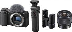 Sony ZV-E10 Body + 10-18mm + grip GP-VPT2BT + mikrofon ECM-W2BT