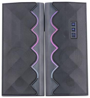 Reproduktory k PC vhodné pro kancelářskou práci hraní her Marvo SG-269 sestava 2.0 USB RGB podsvícení přední strany satelitů celkový výkon 6 W