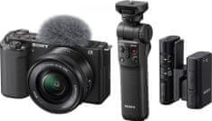 Sony ZV-E10 + 16-50mm + grip GP-VPT2BT + mikrofon ECM-W2BT