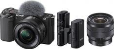Sony ZV-E10 + 16-50mm + 10-18mm + mikrofon ECM-W2BT
