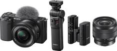 Sony ZV-E10 + 16-50mm + 10-18mm + grip GP-VPT2BT + mikrofon ECM-W2BT