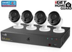 iGET Homeguard HGNVK85304 - PoE kamerakészlet FullHD 1080p NVR 8CH + 4x PoE kamera 1080p