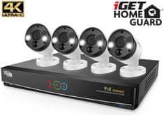 iGET Homeguard HGNVK84904 - PoE kamerakészlet 4K UltraHD NVR 8CH + 4x kamera 4K-val és hanggal
