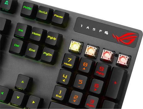 Herní mechanická klávesnice Asus ROG Strix Scope RX, CZ/SK (90MP0240-BKZA00) IP56 100 milionů úderů