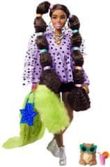Mattel Barbie Extra v puntíkaté blůze s copy