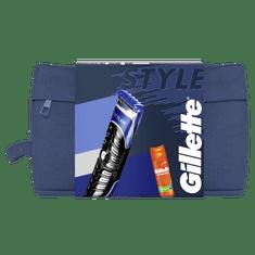 Gillette Ajándékkészlet: Styler + Tartozékok + Borotvagél