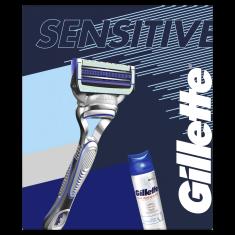 Gillette Ajándékkészlet: Skinguard borotva + borotvagél