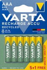 Varta polnilna baterija Recycled 5+1 AAA 800 mAh R2U 56813101476, 5+1 kosov