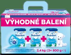 Nutrilon 2 pokračovací kojenecké mléko 3x 800g, 6+ - výhodné balení