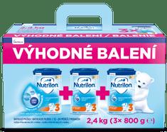 Nutrilon 3 batolecí mléko 3x 800 g, 12+ – výhodné balení