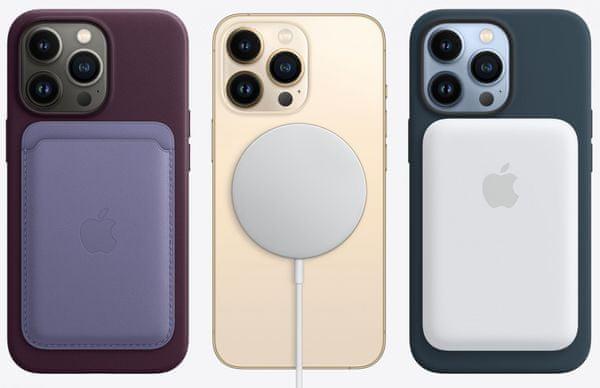 Apple iPhone 13 Pro, magnety MagSafe, zadní strana telefonu