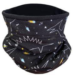 Yetty dětský černý nákrčník tunel - hvězdy N UNI