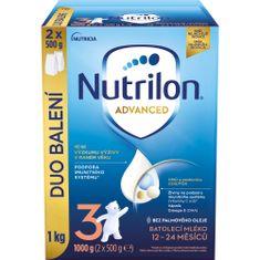 Nutrilon 3 Advanced batolecí mléko 1 kg, 12+